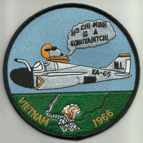NAVY VA-65 Attack Squadron Military Patch HO CHI MINH SONUVABITCH VIETNAM 66'