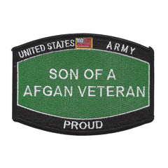 PROUD Son Of A AFGAN Veteran ARMY Patch