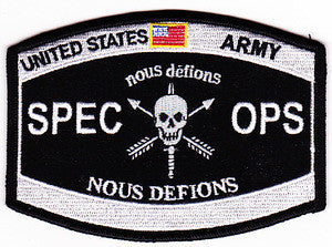 ARMY Special Operations Military Patch SPEC OPS NOUS DEFIONS