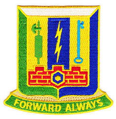 ARMY 1st Infantry Brigade Combat Team 1st Armor Division Special Troop Battalion Military Patch FORWARD ALWAYS STB-50