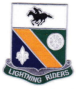 ARMY 35th Division Special Troop Battalion Military Patch LIGHTNING RIDERS STB-51