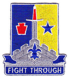 ARMY 55th Brigade Combat Team 28th Infantry Division Special Troop Battalion Military Patch FIGHT THROUGH STB-59