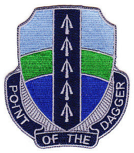 ARMY 2nd Brigade Combat Team 1st Infantry Division Special Troop Battalion Military Patch POINT OF THE DAGGER STB-60