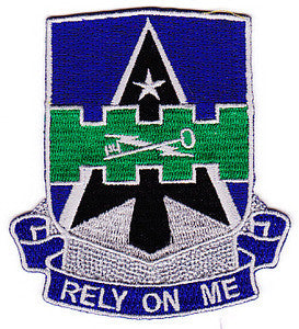 ARMY 5th Brigade Combat Team 1st Armor Division Special Troop Battalion Military Patch RELY ON ME STB-63