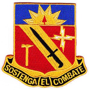 ARMY 40th Infantry Division Special Troop Battalion Military Patch SOSTENGA EL COMBATE STB-71