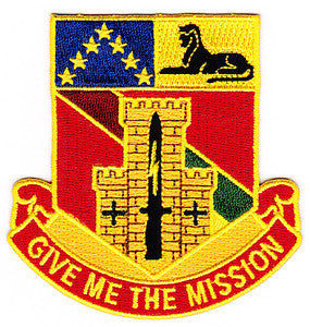 ARMY 48th Infantry Division Special Troop Battalion Military Patch GIVE ME THE MISSION STB-72