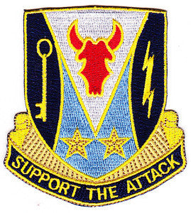 ARMY 34th Infantry Division Special Troop Battalion Military Patch SUPPORT THE ATTACK STB-75