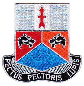 ARMY 32nd Infantry Combat Brigade Special Troop Battalion Military Patch PECTUS PECTORIS LUPIS STB-81