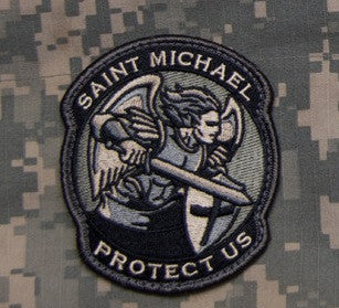 PROTECT US SAINT MICHAEL - ACU - TACTICAL BADGE MORALE VELCRO MILITARY PATCH MODERN