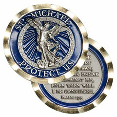 ST MICHAEL PROTECT US Challenge Coin