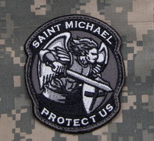 PROTECT US SAINT MICHAEL - SWAT - TACTICAL BADGE MORALE VELCRO MILITARY PATCH MODERN