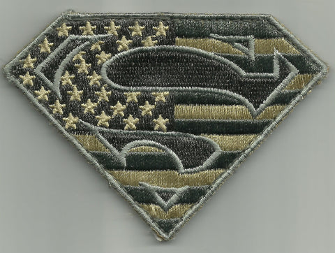 SUPERMAN Hook Backing Morale Military Patch - ACU Light