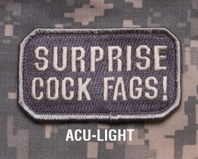 SURPRISE! ACU LIGHT BLACK OPS TACTICAL COMBAT BADGE MORALE VELCRO MILITARY PATCH