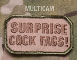 SURPRISE! MULTICAM BLACK OPS TACTICAL COMBAT BADGE MORALE VELCRO MILITARY PATCH