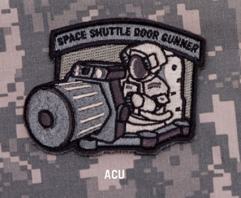 SPACE SHUTTLE DOOR GUNNER - ACU - TACTICAL BADGE MORALE VELCRO MILITARY PATCH
