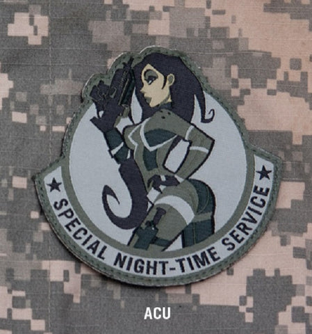 SPECIAL NIGHT TIME SERVICE COMBAT MORALE MILITARY PATCH - ACU