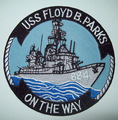 DD-884 USS FLOYD B PARKS GEARING CLASS DESTROYER MILITARY PATCH - ON THE WAY
