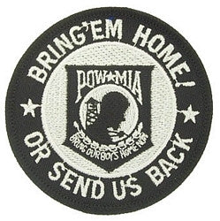 United States ARMED SERVICE BRING 'EM HOME OR SEND US BACK POW MIA MILITARY PATCH