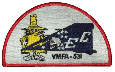 "USMC VMFA-531 MARINE FIGHTER ""GREY GHOSTS"" PHANTOM TAIL MILITARY PATCH - SPOOK"