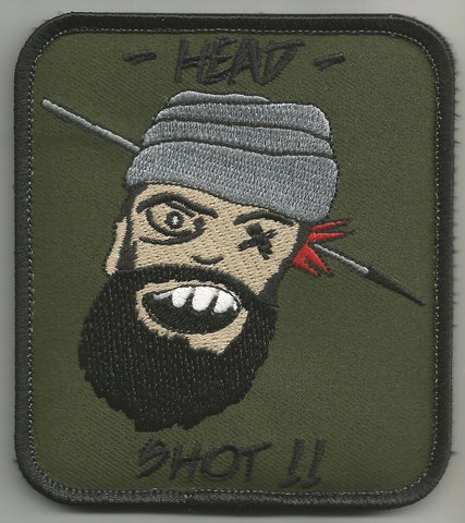 HEAD SHOT!! HOOK Backing Patch - FOREST