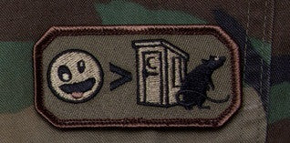 CRAZIER THAN - FOREST - TACTICAL OIF OEF BADGE MORALE VELCRO MILITARY PATCH