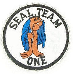 UNITED STATES NAVY SEAL TEAM ONE MILITARY PATCH - SEAL TEAM 1