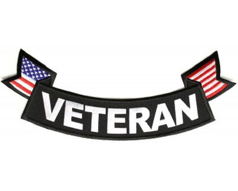 VETERAN FLAGS BOTTOM LOWER ROCKER PATCH