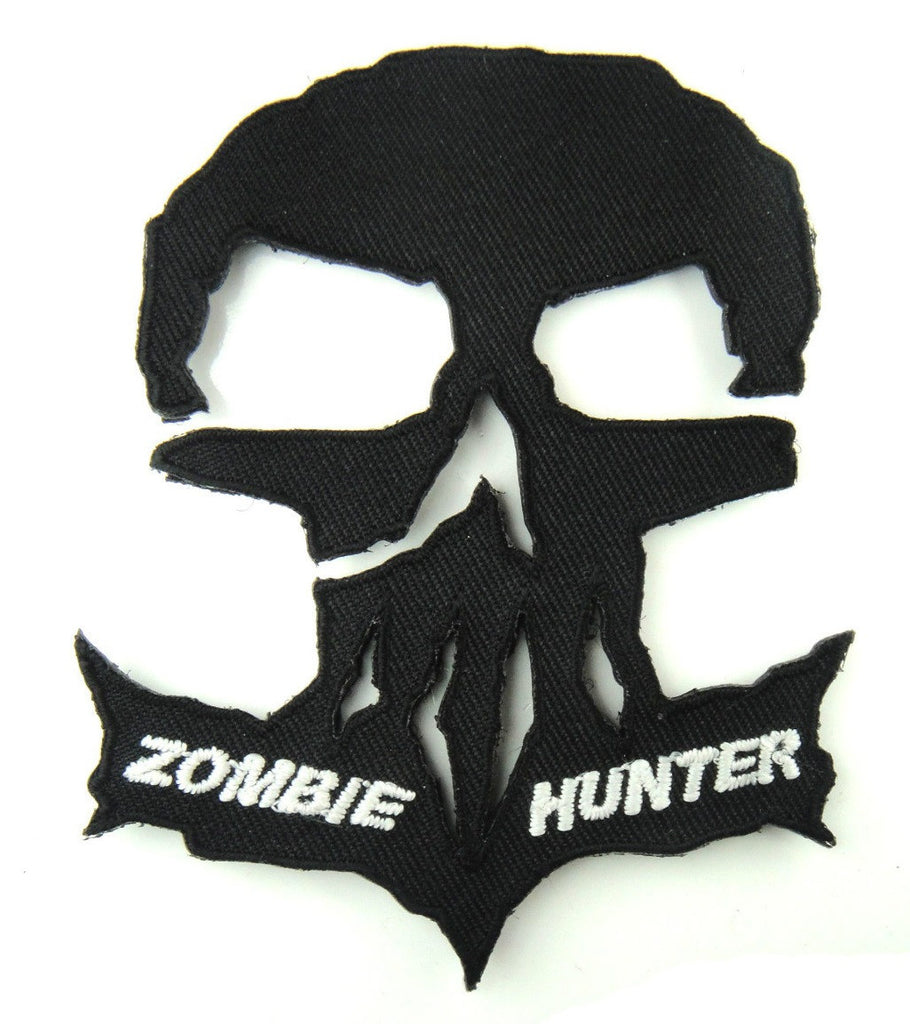 Camouflage embroidery tactical patch fabric zombie hunter badge.