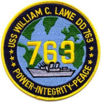 DD-763 USS WILLIAM C LAWE Destroyer Ship Tin Can POWER-INTEGRIETY-PEACE