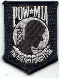 United States ARMED FORCES POW MIA You Are Not Forgotten Military Patch - BLACK & WHITE