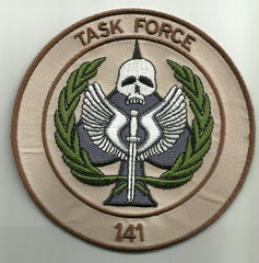 CALL OF DUTY - TASK FORCE 141 MILITARY VELCRO MORALE PATCH - DESERT