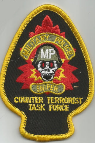 US MILITARY POLICE SNIPER ARMY SPADE MILITARY PATCH COUNTERTERRORIST TASK FORCE