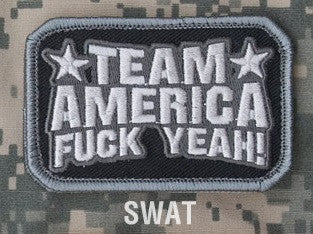 TEAM AMERICA SWAT SPECIAL OPS TACTICAL COMBAT BADGE MORALE VELCRO MILITARY PATCH