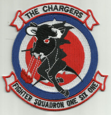 VF-161 Vertical Fighter Squadron One Six One Military Patch THE CHARGERS