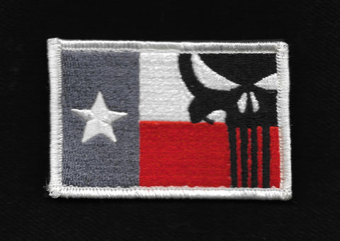 Punisher Texas Flag Hook & Loop Patch