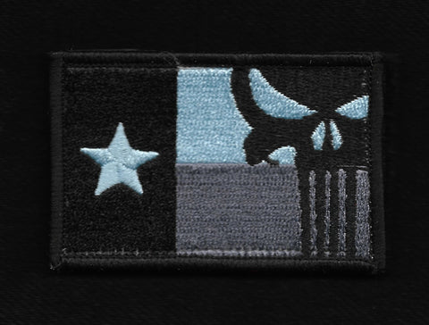 Punisher Texas Flag Hook & Loop Patch - Subdued