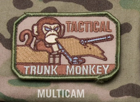 TACTICAL TRUNK MONKEY TACTICAL BADGE MORALE COMBAT VELCRO MILITARY PATCH - MULTICAM
