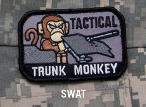 TACTICAL TRUNK MONKEY BADGE MORALE COMBAT VELCRO MILITARY PATCH - SWAT