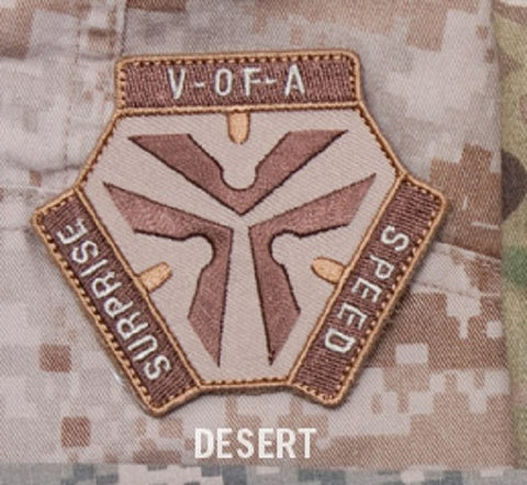 TRIGGER PULL LOGO - DESERT - TACTICAL COMBAT BADGE MORALE VELCRO MILITARY PATCH