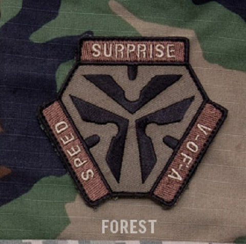 TRIGGER PULL LOGO - FOREST - TACTICAL COMBAT BADGE MORALE VELCRO MILITARY PATCH