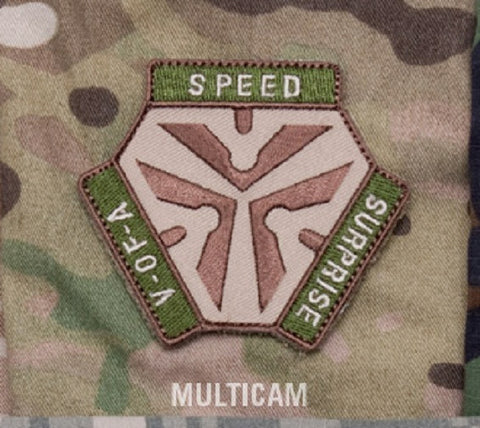 TRIGGER PULL LOGO - MULTICAM - TACTICAL COMBAT BADGE MORALE VELCRO MILITARY PATCH