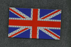 BRITISH UK FLAG REFLECTIVE HI VIZ VELCRO PATCH