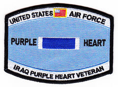 United States AIR FORCE Combat Wounded Military Occupational Specialty MOS Rating Badge of Military Merit Purple Heart Patch IRAQ VETERAN