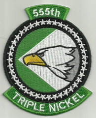 "USAF 555th FS Fighter Squadron ""TRIPLE NICKEL"" Military Patch - AIR FORCE"