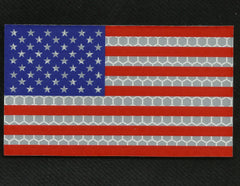 AMERICAN FLAG HI VIZ REFLECTIVE VELCRO PATCH - FORWARD