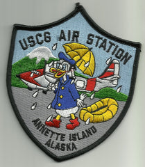 USCG AIR STATION ANNETTE ISLAND ALASKA MILITARY PATCH DONALD DUCK