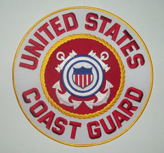 LARGE UNITED STATES COAST GUARD USCG BACK PATCH