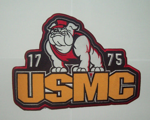 LARGE UNITED STATES MARINE CORPS USMC BULL DOG 1775 BACK PATCH