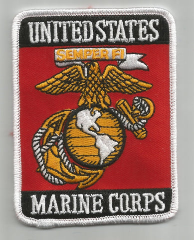 United States MARINE CORPS Military Patch - Rectangle