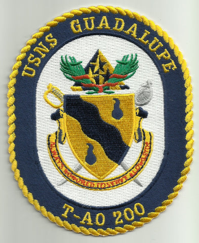 T-AO 200 USNS GUADALUPE Fleet Replenishment Oiler Ship Crest Military Patch